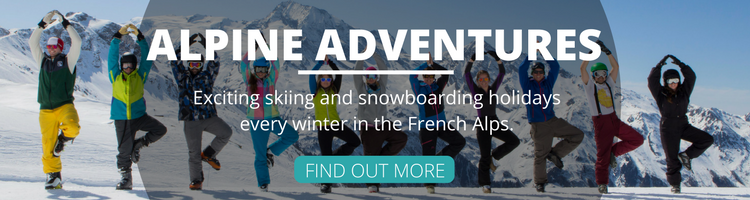 Snow Sports and Yoga Banner