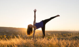 Half moon yoga pose
