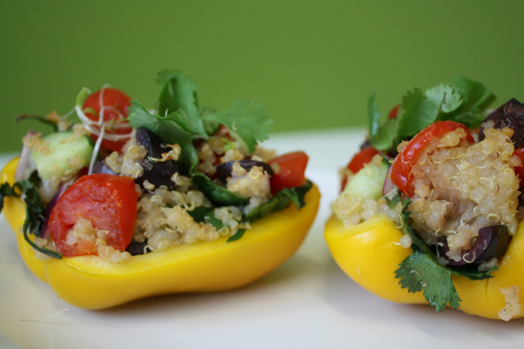 Stuffed Peppers with Quinoa and Cashews