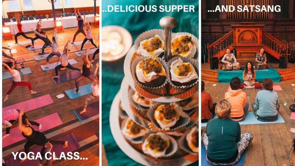 Yoga supper club images