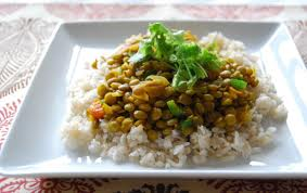 green dahl and rice