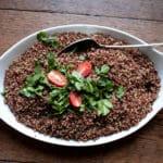 Red and white Quinoa salad