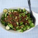 Broccoli and courgette raw sala