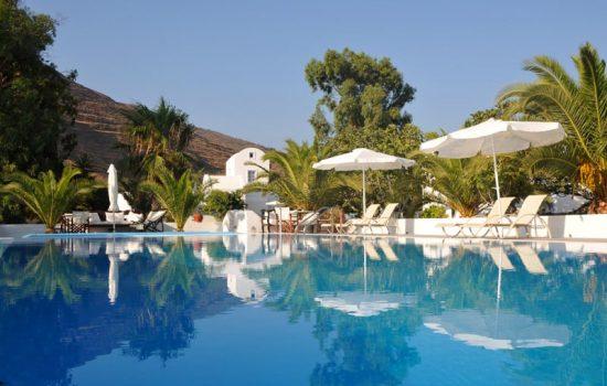 santorini hotel pool