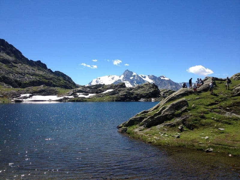 glacial lake hiking french alp