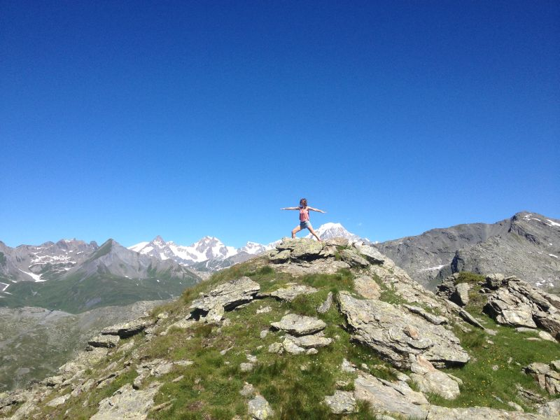 yoga pose on top of mountain views of mont blanc