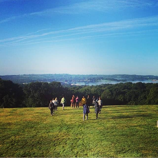 silence on silent walk with views of the high weald East Sussex retreat
