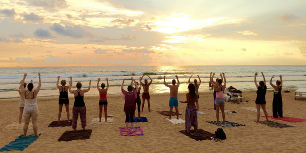 Beach Yoga in Sri Lanka