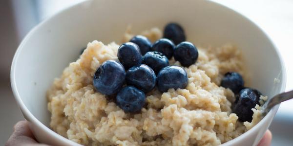 Winter Warming Porridge with Blueberries
