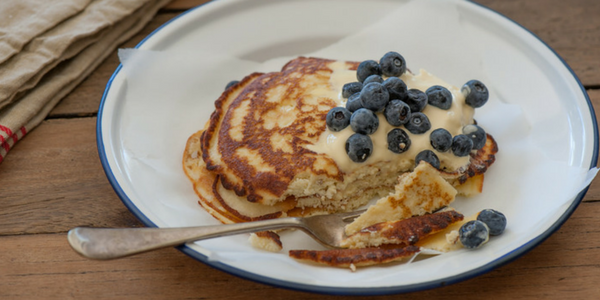 Coconut Flour Pancakes with Blueberries