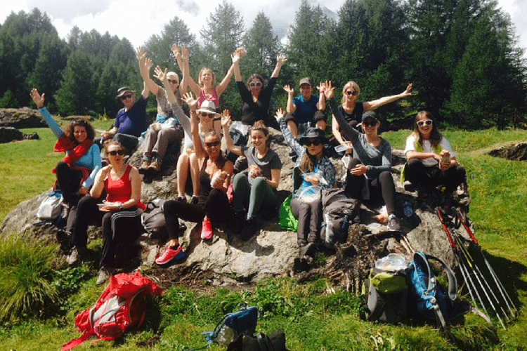 Group photo in the French Alps