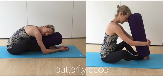 restorative yin yoga poses - butterfly