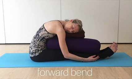 restorative yin yoga poses - forward bend