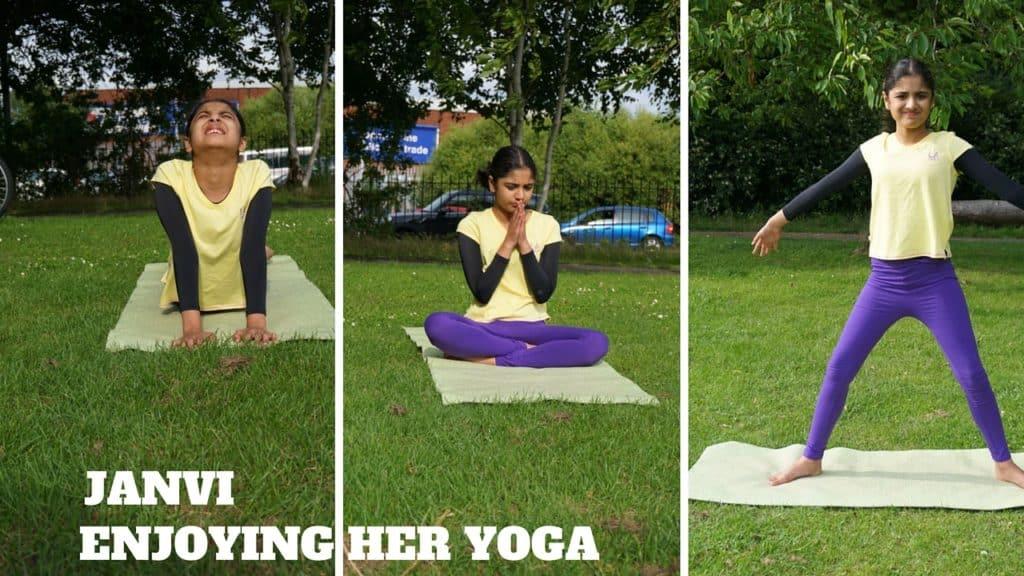 Janvi focusing on her Yoga