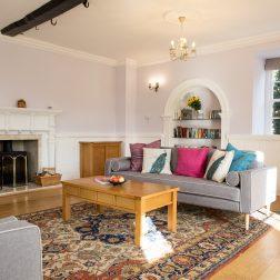 Living room Thrupp yoga retreat venue