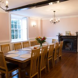 Dining room with dining table and chairs Thrup venue Oxford