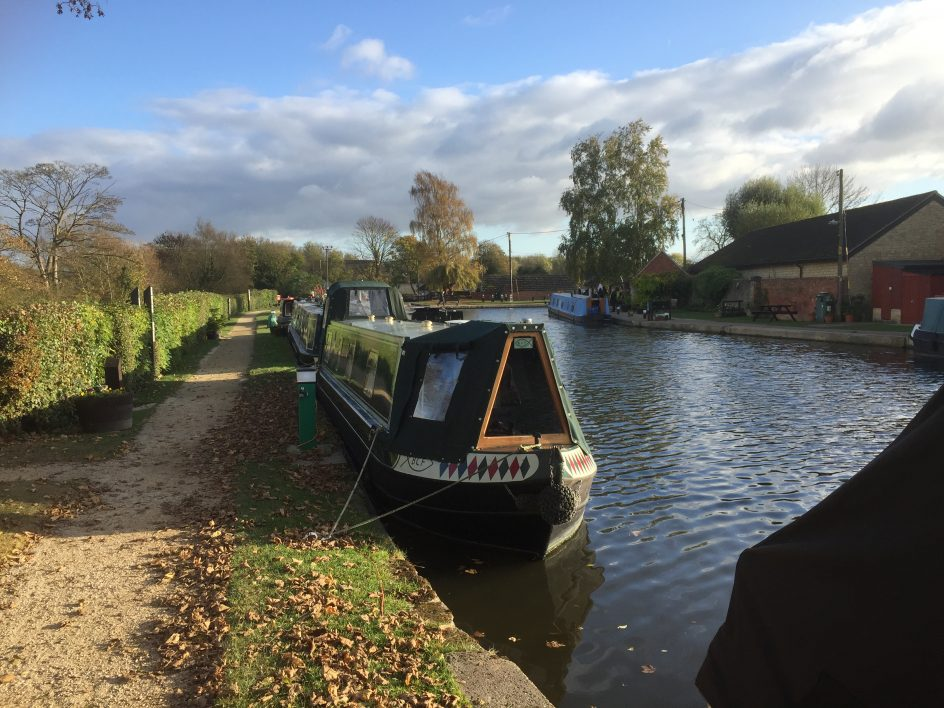 canal boat and canal thrupp