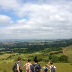 people enjoying view brecon beacons national park yoga retreat