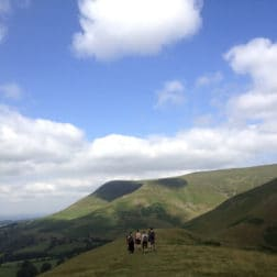 hiking up mountain brecon beacons easter yoga retreat
