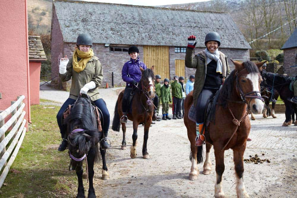 guests horse riding wales