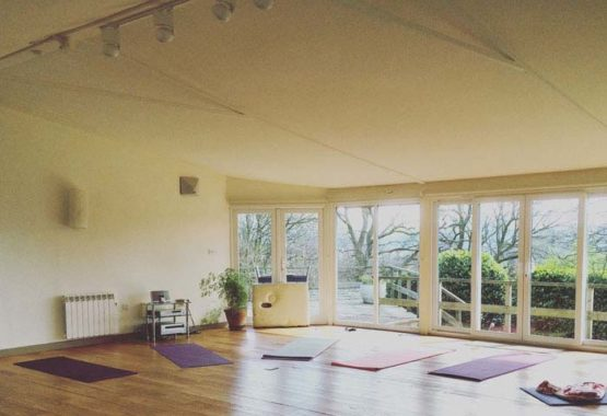 yoga studio with mats out lake district