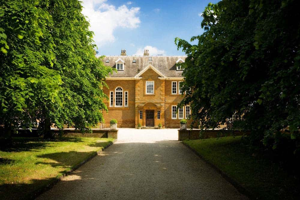 Bicester oxford venue the front with trees