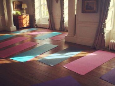 yoga room oxford bicester yoga mats and sunlight through windows