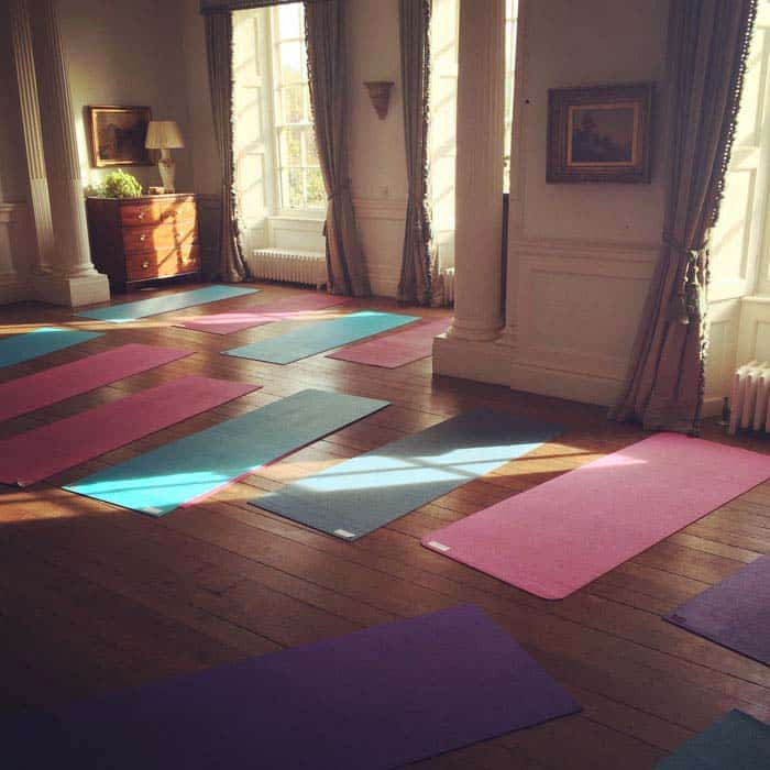 yoga room oxford bicester yoga mats and sunlight through windows
