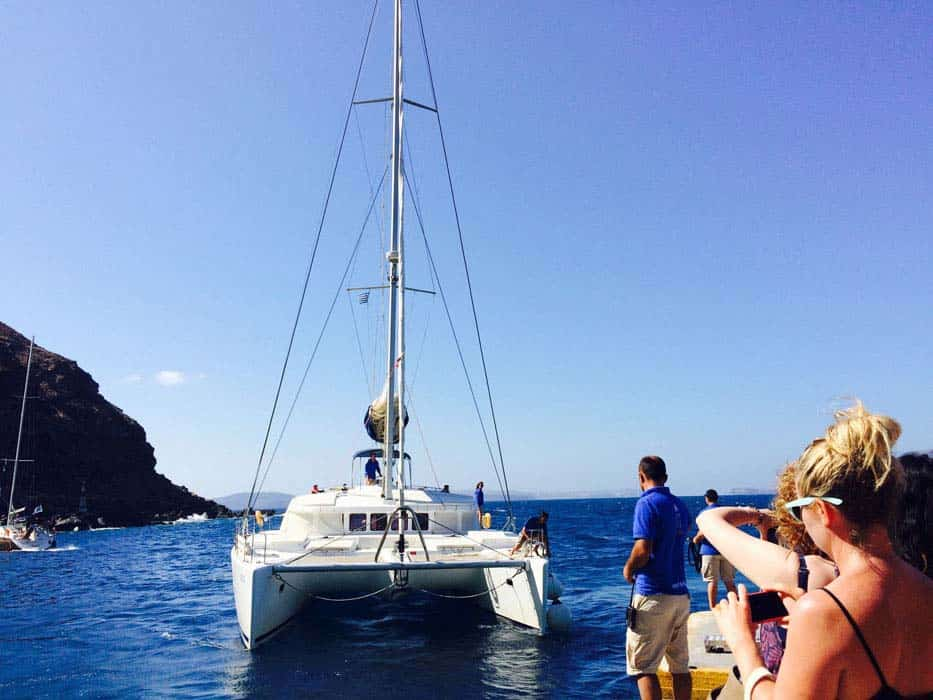 yacht for the day sunshine yoga holiday santorini