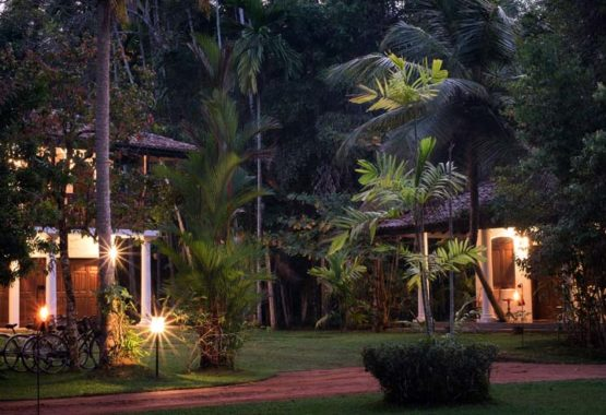Evening shot mango suite and coconut wing and grounds sri lanka venue