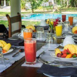 breakfast in pavilion sri lanka sunshine and yoga holiday