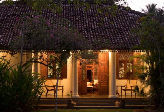 doctors house veranda at night sri lanka