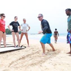 surf lesson on the beach bentota sri lanka