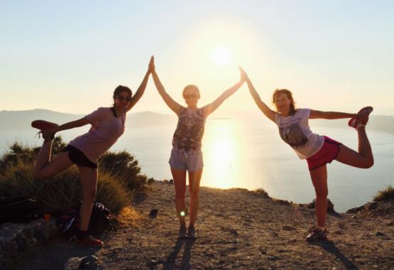Yoga Guests in Santorini