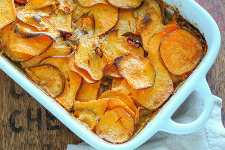 Adzuki Bean & Sweet Potato Bake
