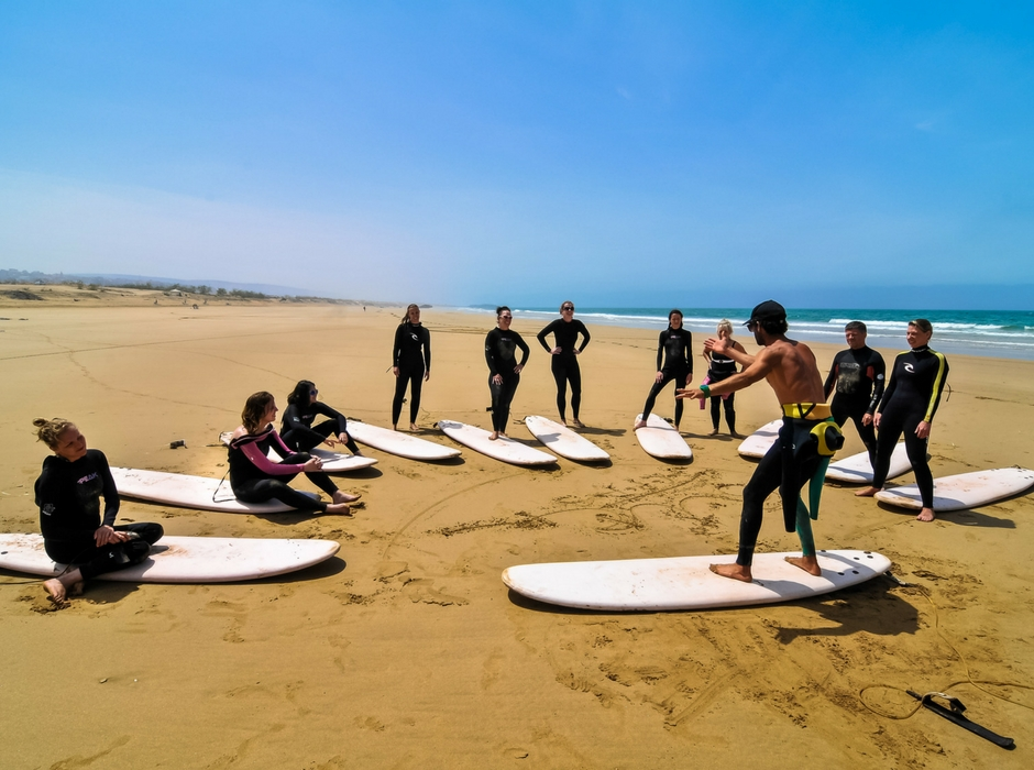 surf lesson morocco yoga and surf holiday