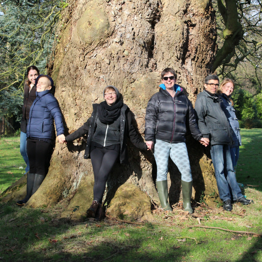 Norfolk Group Around Tree