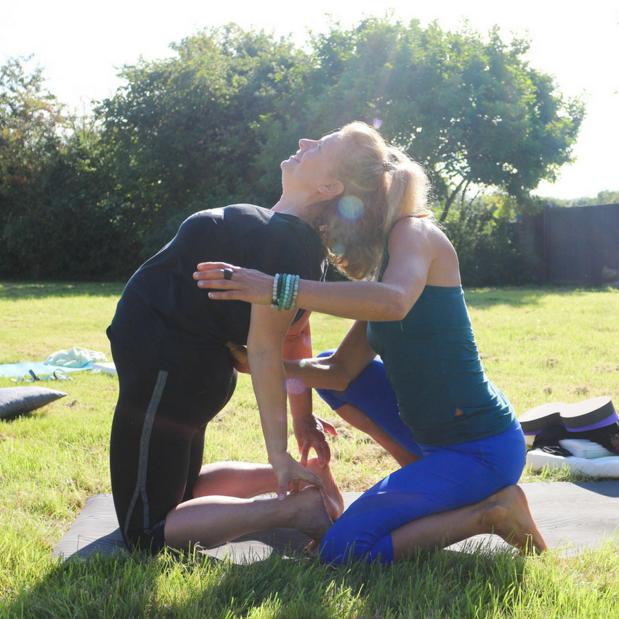Camel Pose Outdoor Yoga Class Thrupp August yoga retreat