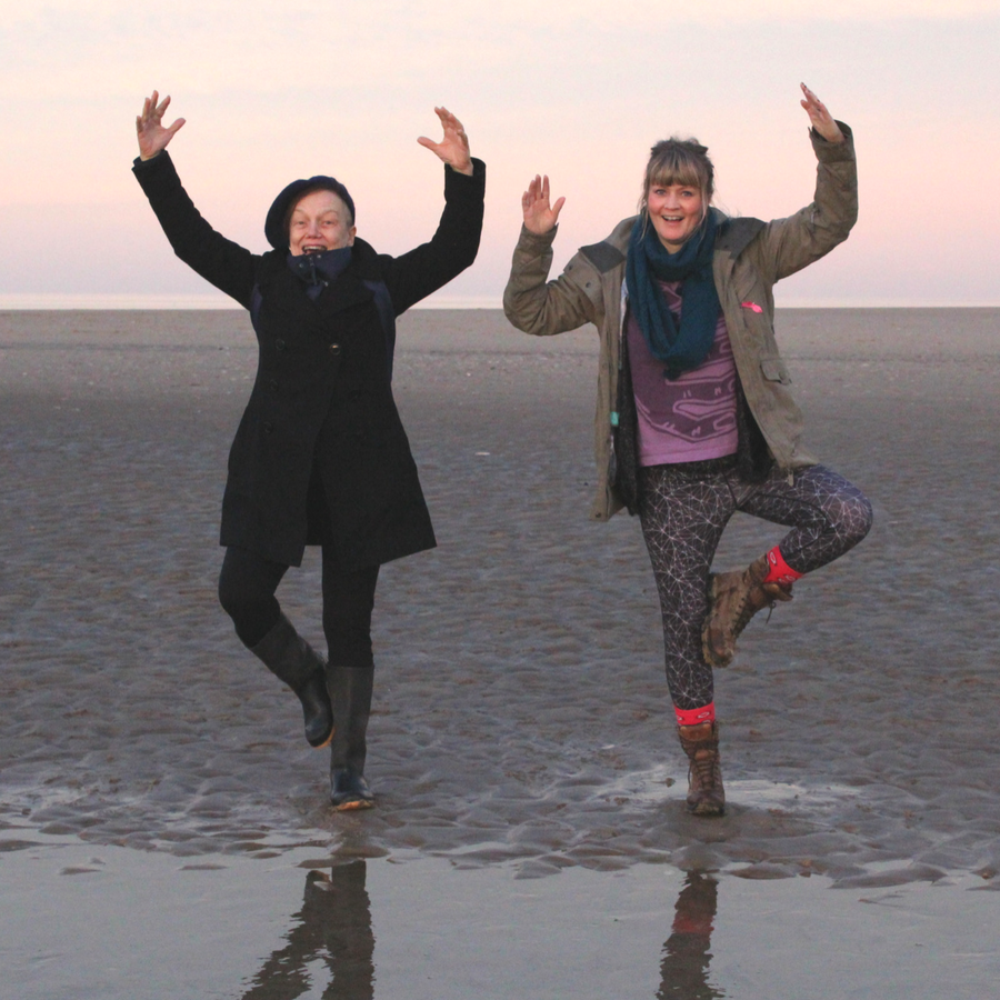 Tree Pose on Beach in Norfolk