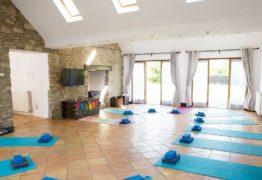 yoga space sun shining through sky lights Thrupp Oxfordshire