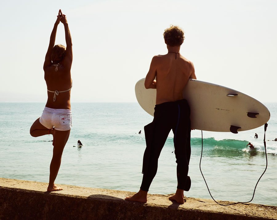 Surfing and yoga Morocco