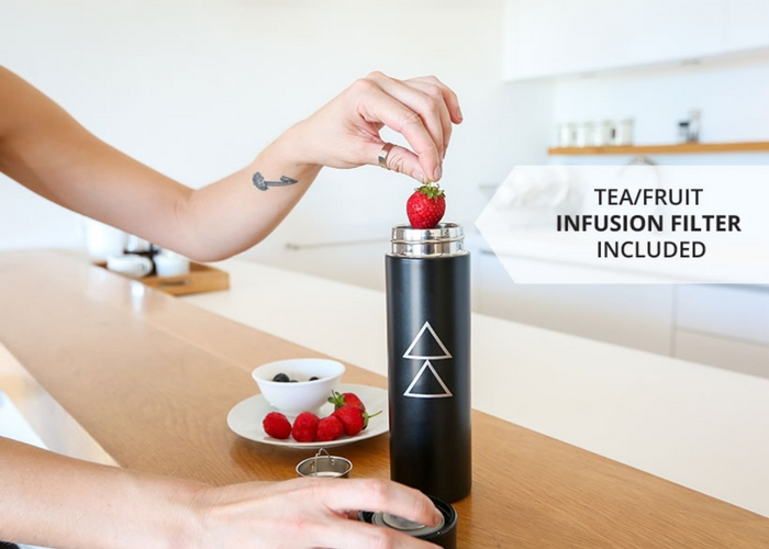 design lab water bottle with fruit infuser
