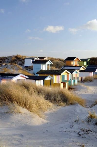 Skane Sweden sand dunes and huts