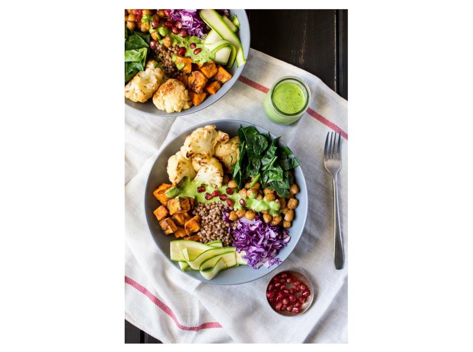 vegan winter goodness bowl recipe with border