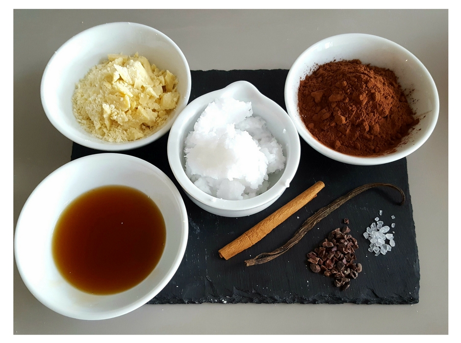 cacao butter cacao powder ingredients for raw cacao chocolate recipe
