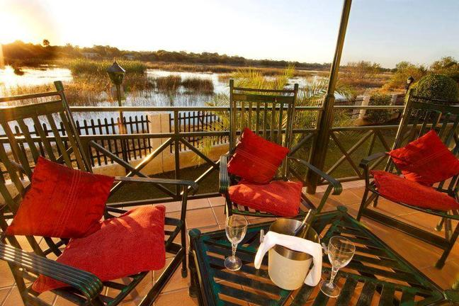 view of river man lodge botswana