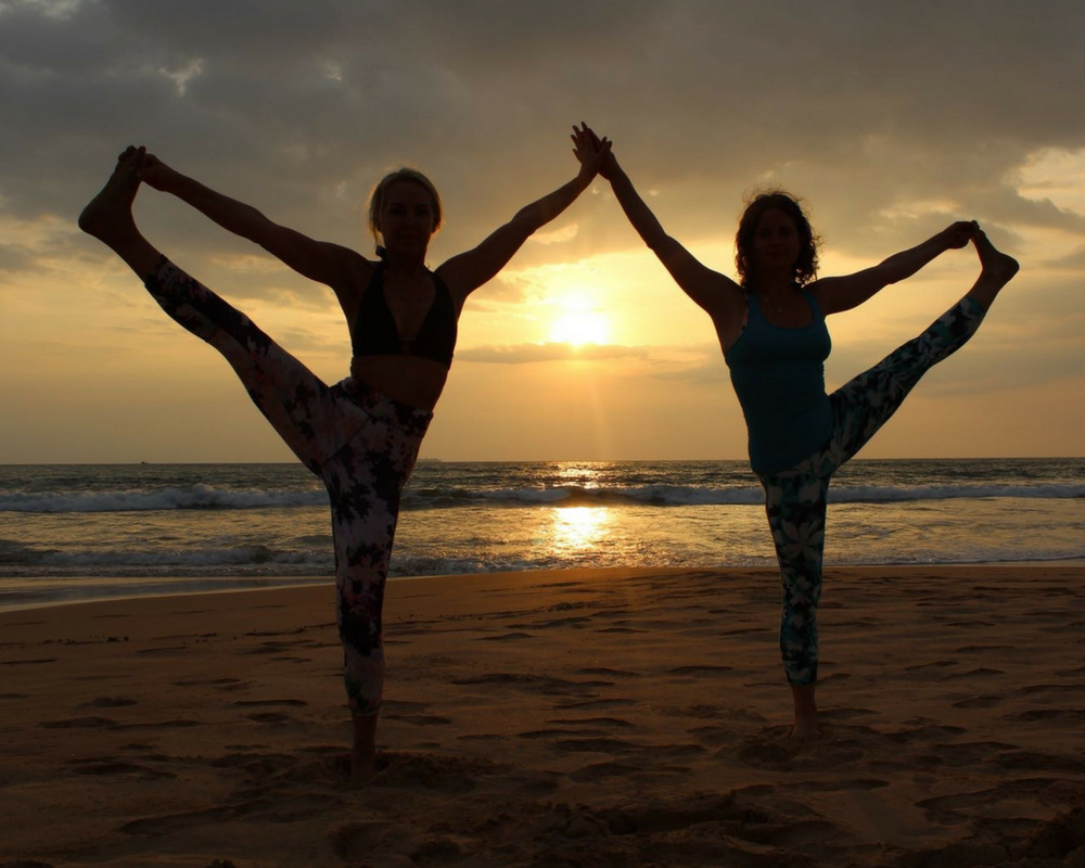 partner-yoga-sunset-standing-yoga-pose-sri-lanka