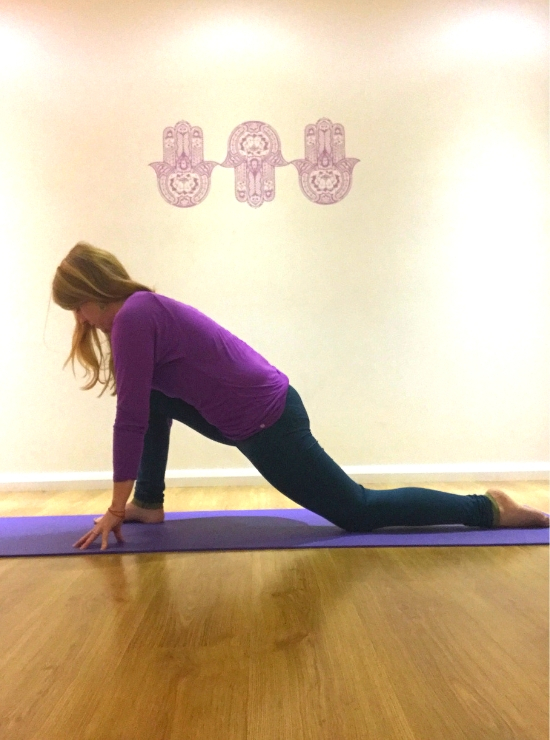 Dragon person in lunge position yin yoga poses help burnout