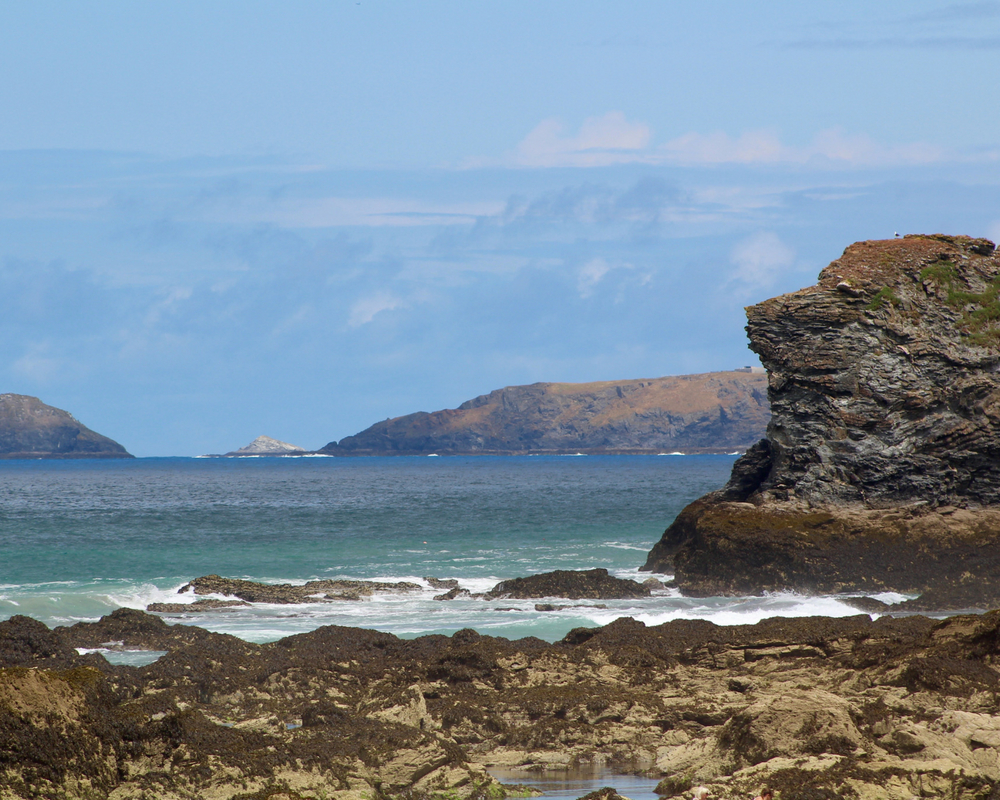 seascape cliff sea