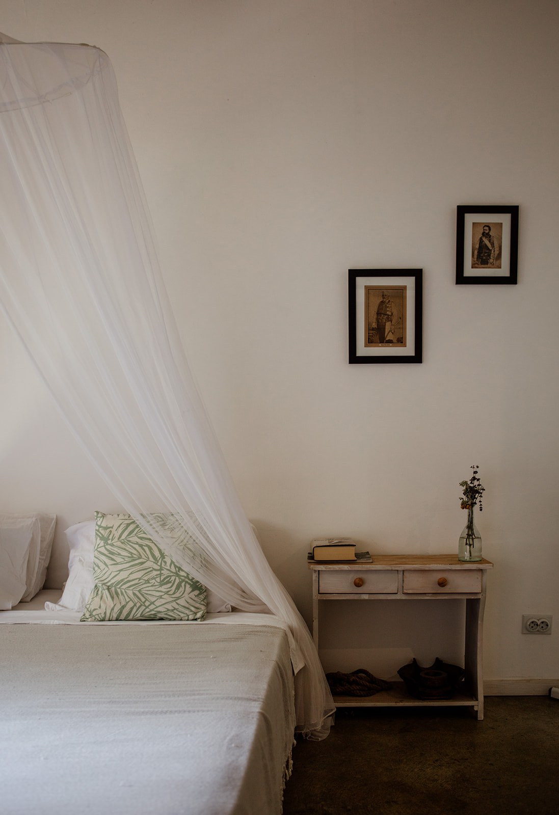 bedroom with bedside table hiking yoga holiday montenegro